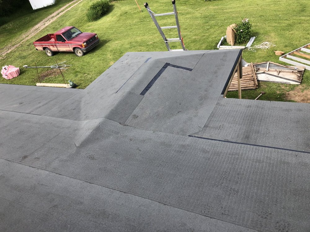Top view of rubber roofing image