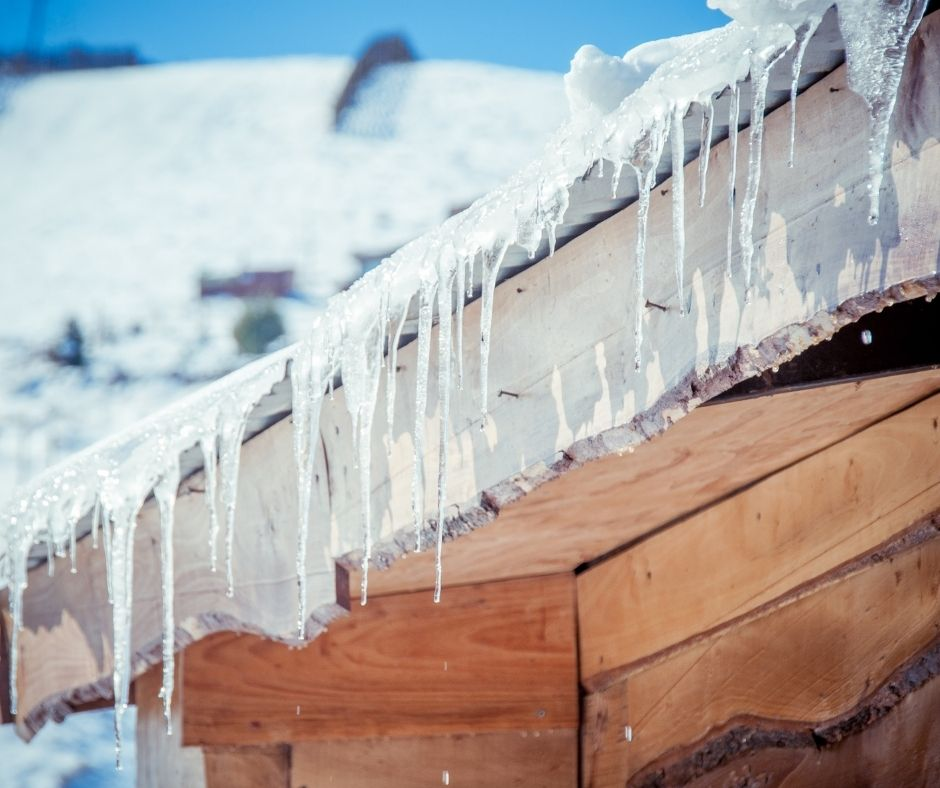How can snow and ice affect the roof of your home?